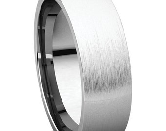 Mens Wedding Band, Brushed Satin Finish,Brushed Finish Wedding Band, Satin Finish Wedding Ring, Brushed Finished Wedding Ring
