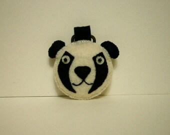 Felt Kung Fu Panda Keychain,  Dreamworks Animation, Po,  Kawaii Keychain, Felt Animal, Key Ring, Cell Phone Charm