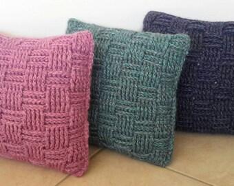 Crocheted basket weave cushion