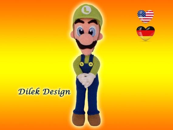 Amigurumi Mario Y Luigi : Amigurumi Crochet Pattern Luigi Amigurumi Luigi by DilekDesign