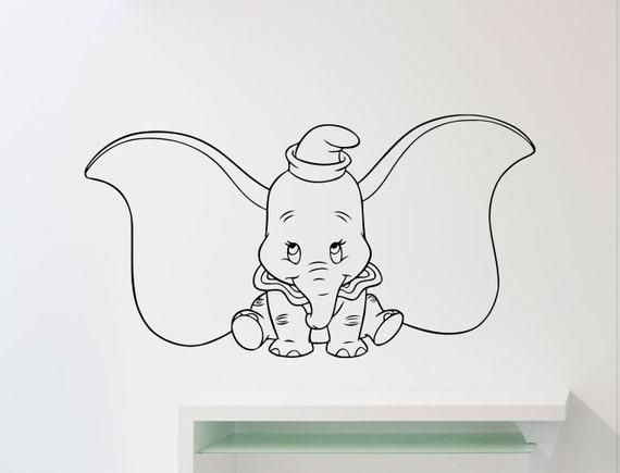 Dumbo Elephant Wall Decal Disney Cartoons Vinyl Sticker Animal