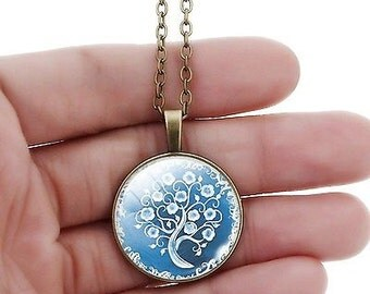 Tree Of Life Silver Gem Pendant Necklace