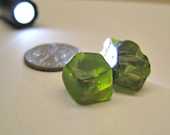 23 Carats of Raw Facet-grade Peridot Lot #1