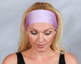 Yoga Headband Shiny Orchid Workout Headband Turban Headband Bandana Running Headband No Slip Headband Adult Headband Wicking Headband