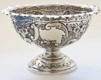 Victorian Silver Pedestal Bowl 1901