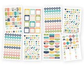 Carpe Diem POSH Basic Planner Stickers, 536 stickers, to do stickers, hole reinforcers, page flags, checkmarks, quote stickers (4969)