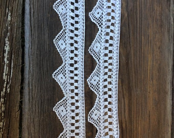 """Vintage--44"""" of finely crocheted edging"""