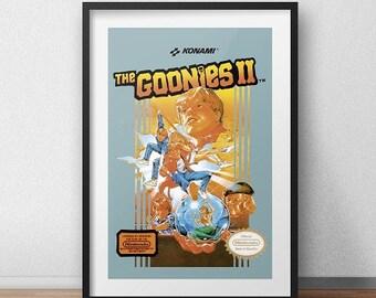 Goonies Original NES Box print