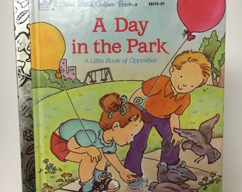 Vintage First Little Golden Book, A Day in the Park