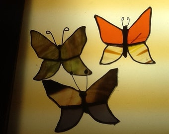 Stained glass butterflies for screens