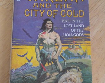 Tarzan and the City of Gold by Edgar Rice Burroughs 1933 Antique Vintage Softcover