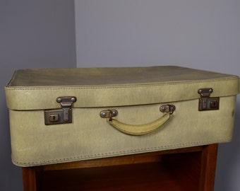 Vintage Retro Vinyl Suitcase Storage Prop