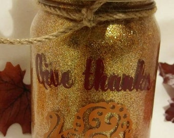 Thanksgiving luminary- Thanksgiving jar light-Thanksgiving jar luminary, turkey