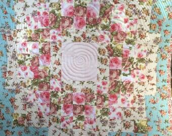 """Handmade quilt """"Roses"""""""