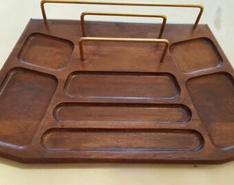 Walnut desk or dresser organizer