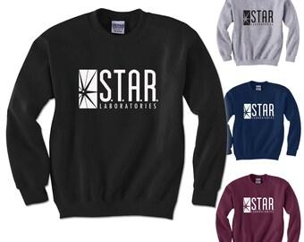 STAR Labs Sweatshirt Halloween Costume Dr Wells Cosplay Adult, Youth Sweatshirts