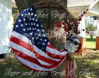 Wreath- Proud to be an American