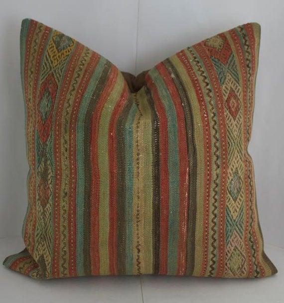 Decorative Pillows Rustic : 24x24 Accent Pillow Rustic Pillows Throw Pillows Couch Pillows