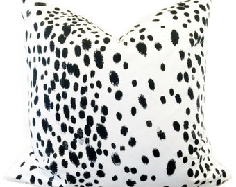 Black and White Dalmation Modern Dots print pillow cover- Designer Decorative Throw Pillow-Toss Pillow-Pillow Cushion-Double Sided