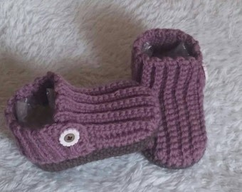 Baby booties 0-6 months of pure wool and alpaca ready to ship Crochet baby booties 0-6months wool and alpaca ready to ship