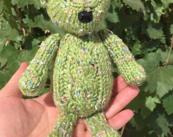 Knitted Teddy Bear - Lily