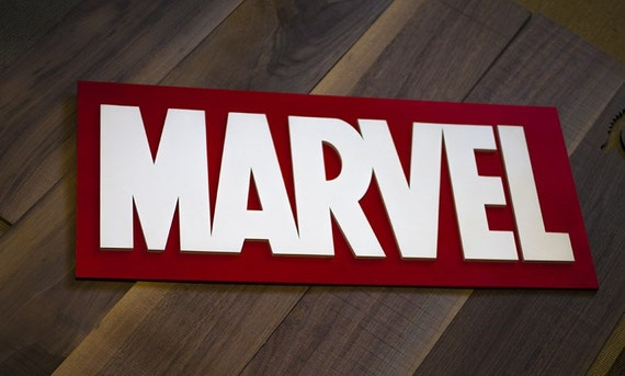 Marvel Wood Wall Decor : Marvel wood sign comic wooden by volgawood