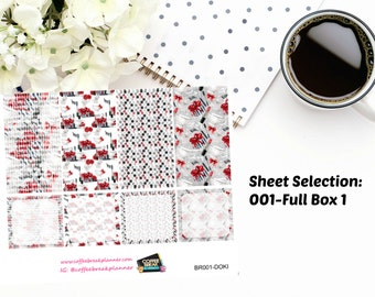 Planner Stickers | Doki Discagenda Black and Red Elegance Weekly Kit| BR001-BR005