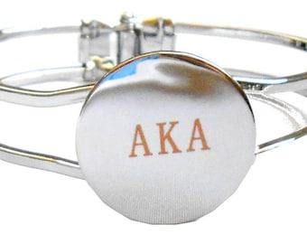 Alpha Kappa Alpha Sorority Silver Greek Letter Bracelet AKA/B13