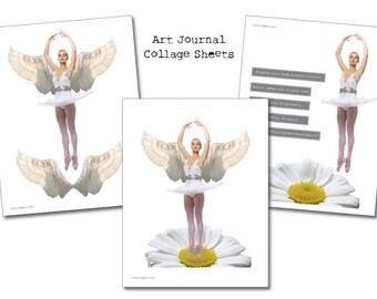 Ballet - Art Journal Collage Sheets