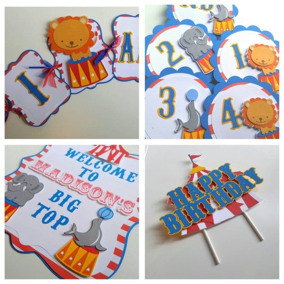 Circus first birthday party pack circus birthday decorations for 1st birthday decoration packs