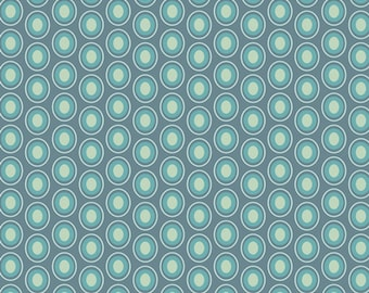 Oval Elements in Vintage Blue - 1/2 Yard - Art Gallery Fabric