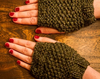 fingerless mitts // thingamebob knits