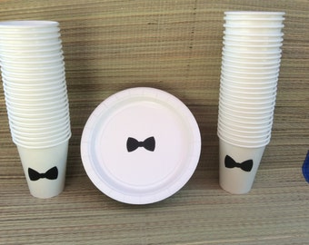Paper Tableware Decorations Baby Shower & Bow Tie Party Plates - Best Plate 2018