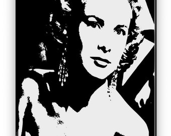 Grace Kelly. Mirror hand engraved, sandblasted and coloured spray.