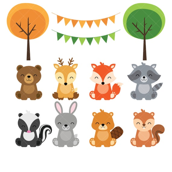 Woodland Baby Animals Clipart Forest Animal By Clipartisan