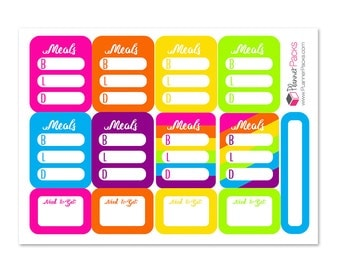 menu / meal planning planner stickers Erin Condren Planner sticker dinner lunch breakfast stickers