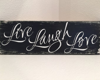 Live Laugh Love - wood sign distressed wall decor