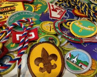 BSA, Set of Vintage Boy Scout Patches, 1979-1980s, Diamond Jubilee, Yosemite