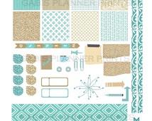 Horizontal November Sparkle PRINTABLE  Erin Condren Planner Stickers: JPEG & PDF File,Glam Planning, Inkwell, Filofax, Kikki K, Plumplanner