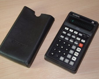 OLYMPIA CD94 with pouch Calculatrive vintage