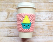 Crochet Coffee Cozy, Crochet Coffee Cup Sleeve, Drink Cozy, Beer Coozie, Disneyland Dole Whip, Teacher Gift, Gifts For Her Under 10