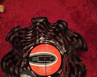 Unique record album bowl Dionne  Warwick