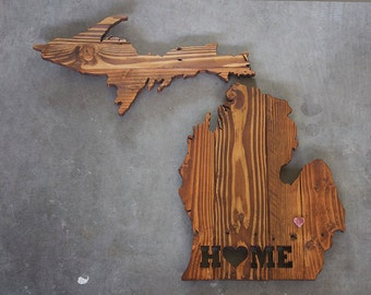Michigan Home Sign, Michigan Wood Sign, Michigan Wall Art, Michigan State Sign, Michigan Home Decor