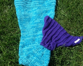 Crochet Mermaid Tail Blanket