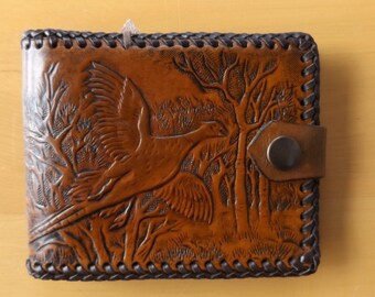 Hand Made Leather Wallet-Pheasant