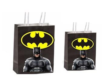 Dc Batman Party Favor Bag Printable Instant Download