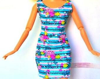 Barbie doll clothes, Colorful barbie dress, barbie clothes, Barbie dress, Barbie ballgown, Barbie doll, Barbie fashion, Barbie clothing