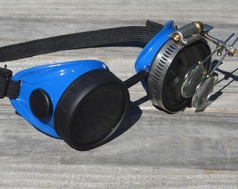 Steampunk Goggles Post Apocalypse Eyewear Magnifying Loupes Time Traveling Archaeologist Mad Scientist Airship Captain