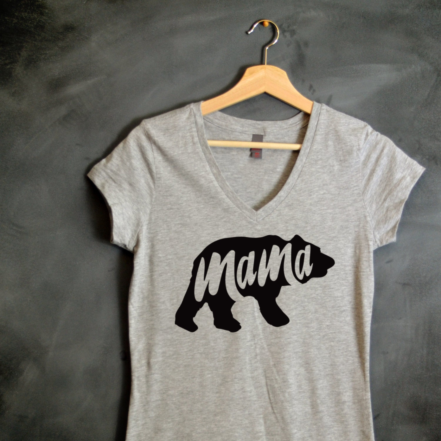 Mama Bear T Shirt Mama Bear V Neck T Shirt Baby Shower Gift