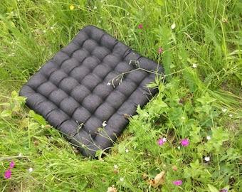 "Large Floor Pillow seat Buckwheat hulls ""Сubes""/Massage Orthopedic/Organic pillow/buckwheat/floor cushion/Meditation Yoga /Natural/Car seat"